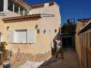 pintura de casas - trabajando