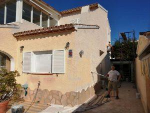 pintura de chalet lateral casa